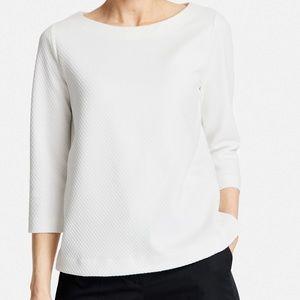 COS Textured Jacquard Waffle Sweatshirt 3/4 Sleeve